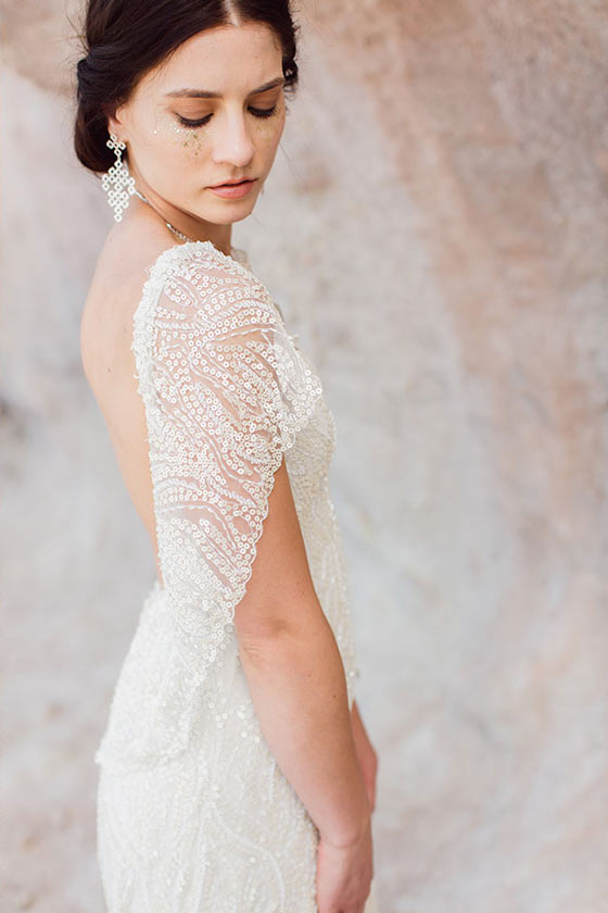 Celestial bride burnetts boards romantic soft glitter beauty inspiration for Truly and Madly NZ