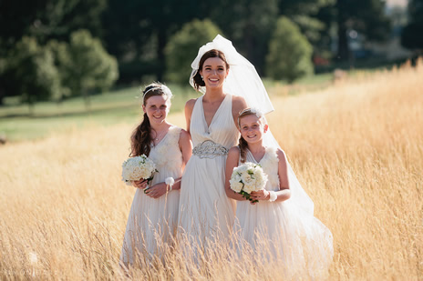 Gorgeous flower girls and bride