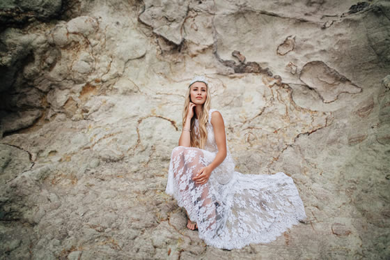 Modern hippie bridal beauty Truly and Madly editorial Amy Kate Photography Auckland