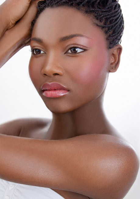 Radiant glowing skin in soft pinks