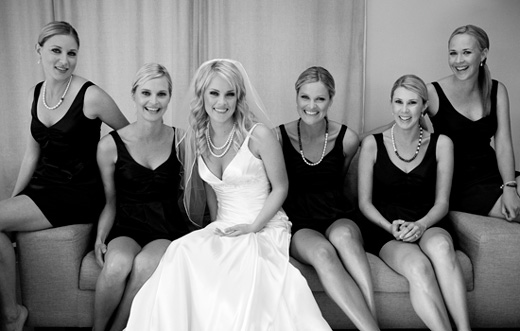 Waiheke bridal party